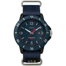 Timex TW4B14300,  Gallatin, Expedition Blue Nylon Watch, Solar Battery, Date