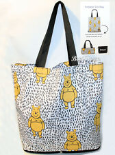 Disney Winnie-the-Pooh Foldable Packable Canvas Reusable Shopping Bag Purse Tote