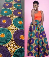 African Wax Print Cotton Ankara Fabric Superior Quality Bright Colors Per Yard