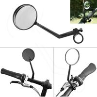 Bicycle Bike Handlebar Round Reflector Rearview Mirror Safety Night Cycling