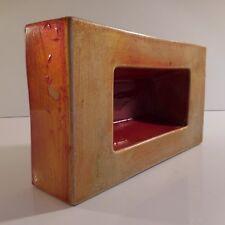 Brique lingot céramique faïence vide-poche jardinière fait main vintage N3351