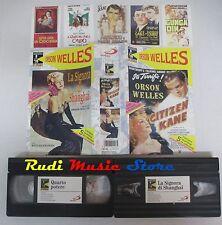 film VHS CITIZEN KANE quarto potere LA SIGNORA SHANGHAI Orson Welles (F18)no dvd