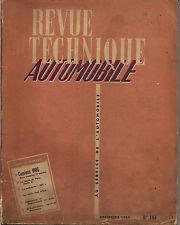 REVUE TECHNIQUE CAMIONS UNIC TOUS MODELES 1ere PARTIE/VOITURETTE JET  1959
