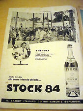 PUBBLICITA' ADVERTISING WERBUNG 1962 BRANDY STOCK 84 GIUSEPPE MAFFIOLI (AM2)