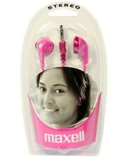 Maxell EB-98 Stereo Ear Buds In Ear Headphones Pink