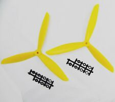 2pcs three 3 Blade Propeller 1045 10*4.5 CW CCW Yellow Quadcopter Multicopter