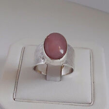 AGNES CREATIONS/BEAUTIFUL LOOKING WOMAN RING 925 SILVER ADORNED RHODOCHROSITE