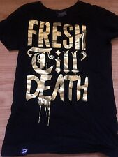 DROP DEAD CLOTHING FRESH TILL DEATH EMO SCENE OLI SYKES BMTH SHIRT SIZE SMALL