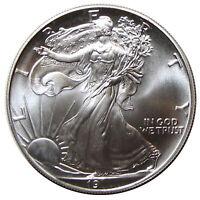2000 - 2019 American Silver Eagle Random Year Gem BU
