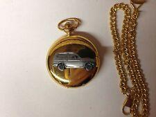 Reliant Kitten Estate ref204 pewter effect car on a Gold Quartz Pocket Watch