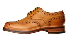 Mens Grenson Archie Tan Leather Heavy Country Brogue Shoes UK 9.5G