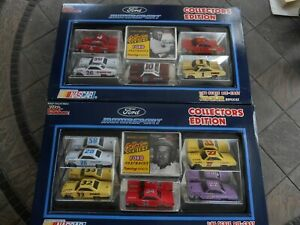 1/64 Ford Fastbacks set of 2, 1992 Racing Champions, 10 cars + cards.