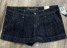 American Rag Women's Junior Sz 5 Shorts Blue Dark Wash Denim Jean Cotton NWT
