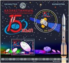 Kazakhstan 2019.Block.15 years of space communicatio New!!!