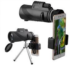 40X60 HD Monocular Telescope Phone Camera Lens 1500/9500m Tripod+Clip For Phone