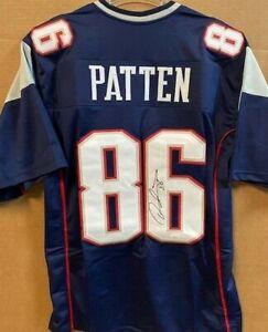 David Patten Signed New England Patriots Jersey (JSA COA) Died September 2, 2021