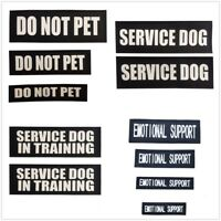 Reflective Service Dog Puppy Patch with Hook Backing In Training Vests Harness