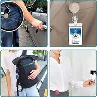 Rhinestone Retractable Holder Keychain Nurse ID Card Clip Hospital Badge HoldYAN