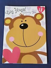 new BIG HUGS - MONKEY coloring books FOR YOUNGER KIDS COLORING BOOK PARTY FAVORS