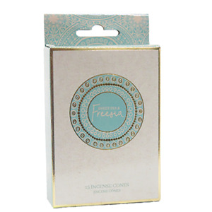 Sweet Pea & Freesia Incense Cones Home Fragrances Aroma Scent Relaxing Holder