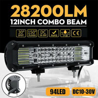 282W 12inch Work Light Bar Spot Flood Combo Offroad Truck SUV Boat Driving L xe