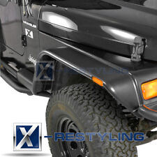 97-06 Jeep Wrangler TJ/LJ Flat Style Front + Rear Fender Flares with LED light