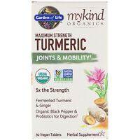 Garden of Life  MyKind Organics  Maximum Strength Turmeric  Joints   Mobility