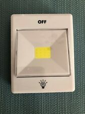 Battery operated light switch white new, usage: CAMPING, DARK ROOM
