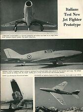1953 Aviation Article Italian Jet FIghter Ambrosini Sagittarius Italy Military