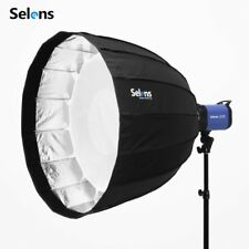 "Selens 120CM 48"" Deep Parabolic Umbrella Softbox + Bowens Speedring For Flashes"