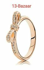 Genuine Pandora Rose Gold Bow Ring Size 52 54 56 58 with Pouch ALE Stamp RRP £70