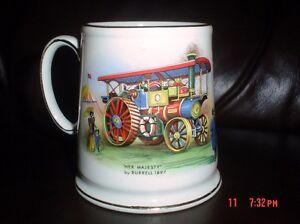 James Kent Old Foley Mug 'Her Majesty' And 'Steam Coach'
