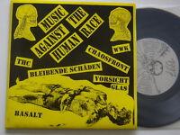 """Music against the Human Race- 7""""-  Punk-EP: Chaosfront,Vorsicht Glas,THC,Basalt"""