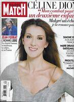 Paris Match Magazine Celine Dion Jean Ferrat Jean Reno Simone Veil Gad Elmaleh