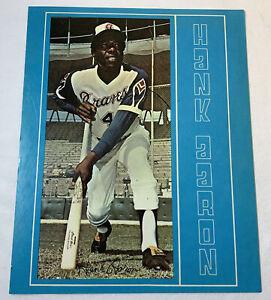 1970's 8x10 photo ~ HANK AARON ~ Atlanta Braves