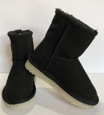 Girls Black Boots Spark Led Light Up Faux Suede Boots Size 11