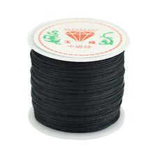 Colorful Round Black Nylon Cord Necklace Thread Wire Jewelry DIY 45m*0.8mm