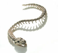 "Skeleton Snake Scary Lifesize Halloween Party Decoration Prop 42"""