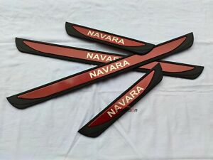 For Nissan NP300 Navara Accessories Door Sill Guard Scuff Plate Protector Cover