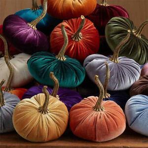 Pumpkin Pillow Throw Halloween Velvet Cushion Mats Couch Floor Sofa Home Decor
