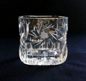 VTG American Brilliant Cut Glass Vase Hobstar Buzz 7cm Tall | FREE Delivery UK*