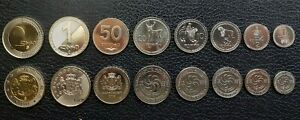 Georgia, UNC, 8 Pcs Coin Set, 1 2 5 10 20 50 Tetri + 1 2 Lari 1993 2006 BIMETAL