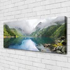 Leinwand-Bilder Wandbild Canvas Kunstdruck 125x50 Gebirge See Landschaft