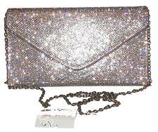 LULU TOWNSEND Rose Gold Sparkling Envelope handbag purse clutch NWT