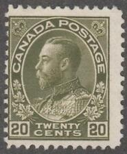 Canada #119 unused 20c Admiral George V 1925 cv $100