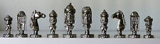 Cast Metal Saracens Chess Set & Board