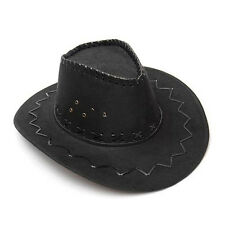 Fashion Cowboy Hat Suede Look Wild West Cowgirl Unisex Outdoor Camping Hat