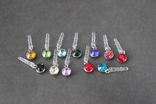 1 X CRYSTAL BIRTHSTAR  ANTI DUST EARPHONE PLUG CHARM  IPHONE-SAMSUNG ETC!!