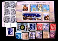 NORTHERN IRELAND ASSORTMENT, USED & UNUSED, MHM, MHM, OG (SEE DESCRIPTION)