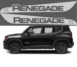 Adesivi jeep renegade per parafanghi laterali grigio chiaro vinile fuoristrada